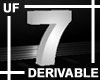 UF Derivable Digit 7