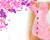 Baby Pink Sparkle Corset