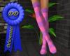 layer pink purple socks