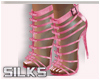 Pink Strappy Bling Shoe