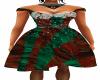 Red Green Gem Dress