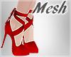 *S Ribbon Heels