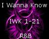 I Wanna Know -R&B-