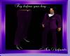 Purple Tux Dress Pants