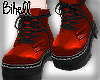B! Red Laced Boots