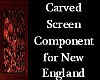 Carved  Screen Component