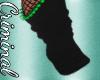 Blk/Green Spiked Socks
