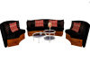 Black Sleek Sofa Set