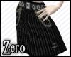 chains pinstripe skirt