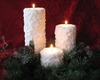 Sparkling Snow Candles