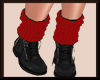 Fall Knit Boots BlkRED