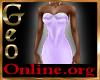 Geo Rachael Gown purple