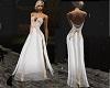 (K)  sheer  white gown