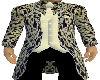 Long Brocade Navy Suit