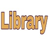 Library 3D Sign