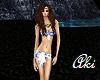 Aki Blue/White Bikini