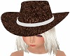 Kids Cowgirl Hat Brown
