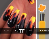 $ Fire Flame Nails