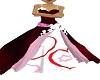 red pk wht wedding dress