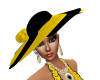 yellow and black hat