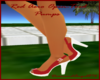 Red Aero Open-Toed Pumps