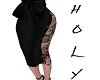 Sexy Blac kimono skirt