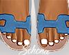 ṩOran Sandals Blue