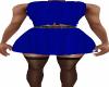 Blue Tie Shirt Skirt