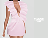 Ruffled mini pink