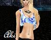 Aki- Blue Floral Flowy T