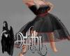 valentine dress black