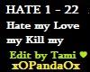 Love Me Hate Kiss Me Kil
