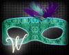 *W* Mask Mardi Gras
