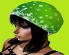 green snwflke hat