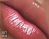 Lila lipgloss
