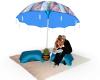 Beach Umbrella Kiss Me