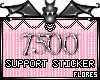 7500 Support Sticker