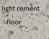 light cement floor