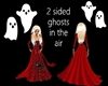 A 2 SIDED SET OF 2 GHOST