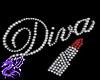 Diva Lipstick 3D Wall Ar