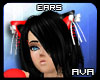 [AVA] RedBlack Neko Ears