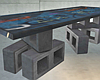 Graffiti Brick Table