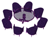 !K69! Club Table Purple