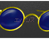 .Glasses OX Blue-Gold
