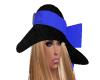 blue ribbon hat