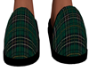Green Plaid Slippers