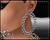 D- Silver Chain Earrings
