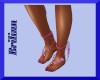 [B] Pink String Sandals