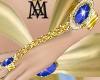 *Gold&BlueStone Bracelet