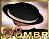 QMBR Hat Bowler Blk-Pk